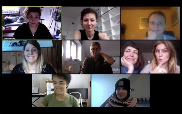 Videokonferenz der Schauspielschule